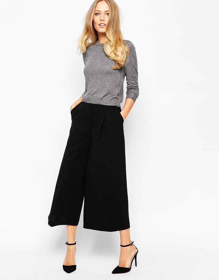 Top pick of the day are these amazing black classic trousers! Could look beautiful for going out with heels. http://asos.do/KVYBP2