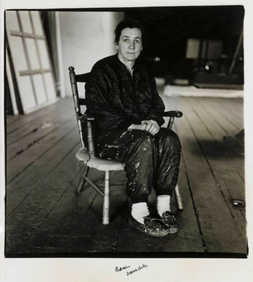 Agnes Martin  photo by Diane Arbus  I went to an Agnes Martin exhibit at the Whitney once and for days afterwards everything ordinary looked beautiful.