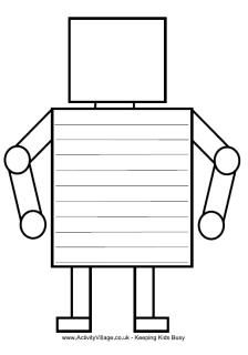 FREE Robot writing frame and other robot printables