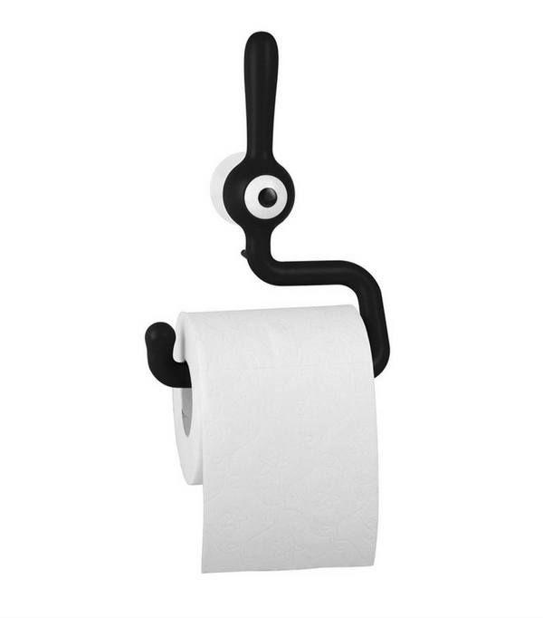 Fixation ventouse pour ce porte-rouleau papier toilette de la marque Koziol
