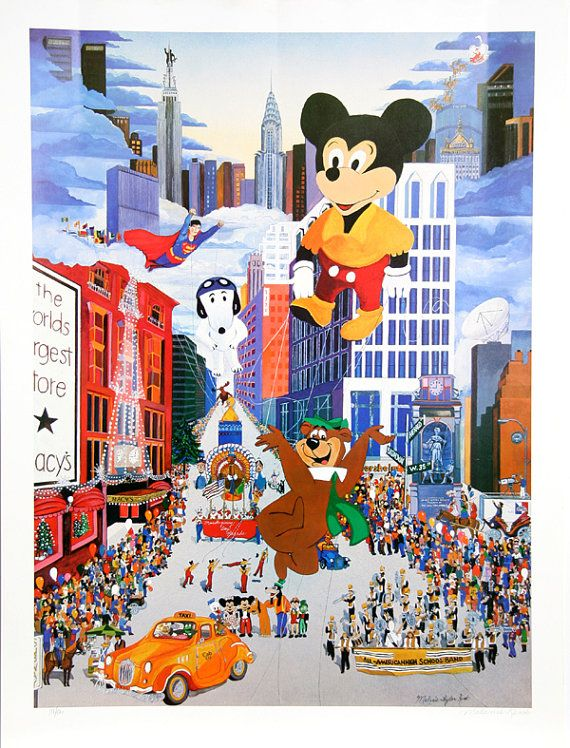Macy S Thanksgiving Day Parade Mickey By Melanie Taylor Etsy In 2020 Macy S Thanksgiving Day Parade Thanksgiving Day Parade Macy S Day Parade