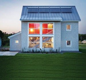 TerraHaus, the first Passive House Certified dorm - Unity College, Maine