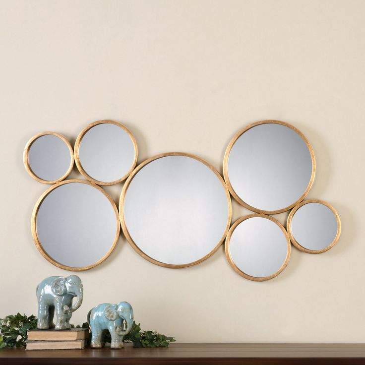 Uttermost Kanna Gold Wall Mirror - 49W x 24H in. - 13934