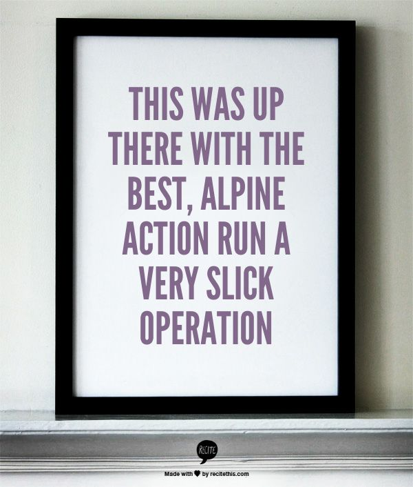 Slick operation