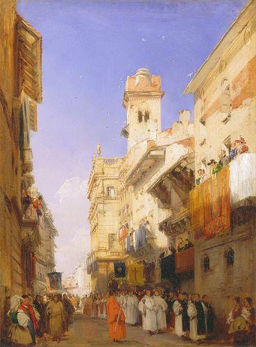 Richard Parkes Bonington - Corso Santa Anastasia, Verona [1828]   Flickr - Photo Sharing!
