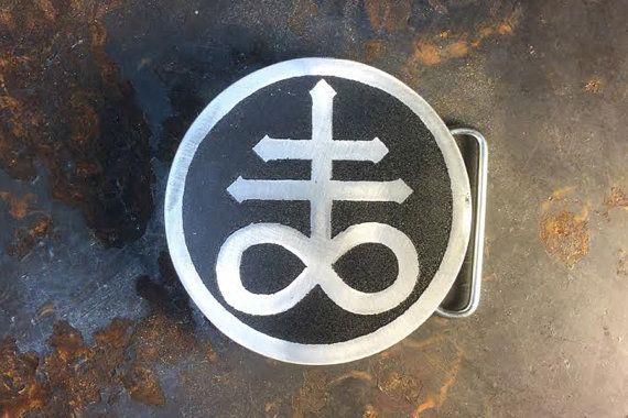 Leviathan Custom Belt Buckle Belt Buckle Etched Metal Made