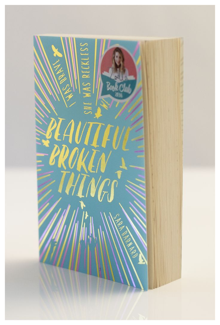 Here is the exclusive WHSmith cover of Beautiful Broken Things for the Zoella Book Club!