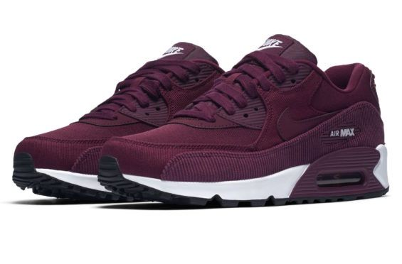 d8ecea69e09d Corduroy Accents Land On This Nike WMNS Air Max 90 Bordeaux The Air Max 90  is