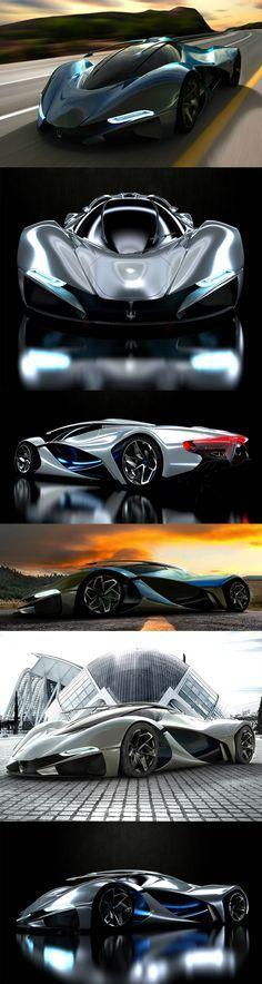 LaMaserati - Concept Car by Mark Hostler                                                                                                                                                      More