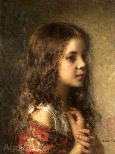 A. Harlamoff - Head Of A Girl