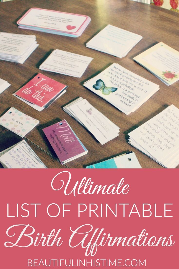 Ultimate list of printable birth affirmations and scriptures -