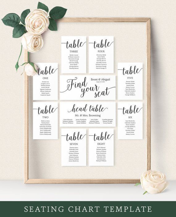 Seating Chart Wedding Template Wedding Seating Chart Cards Etsy Unique Seating Chart Wedding Reception Seating Chart Seating Chart Wedding Template