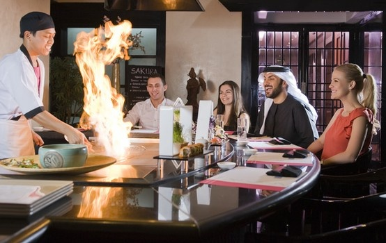 Sakura Japanese Restaurant offers Teppanyaki live cooking for an authentic Japanese experience.