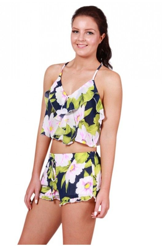 Oasis Paradise Crop Top- Pair this gorgeous crop top with our Oasis Paradise Shorts to make the perfect matching set.