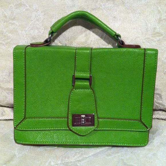 "Lime green Melie Bianco clutch/purse Brand new, never used Melie Bianco clutch! Very cute! Comes with detachable strap. 9.5"" long and 7"" tall. Melie Bianco Bags"