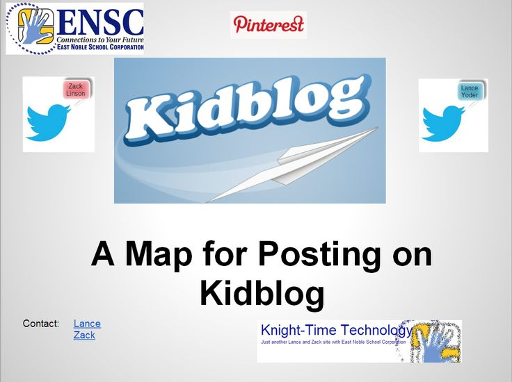 Kidblog Map: For younger students to post pictures or digital work on your Kidblog.