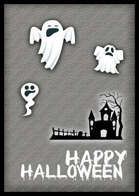 Nuskina: Tarjeta feliz halloween imprimible gratis