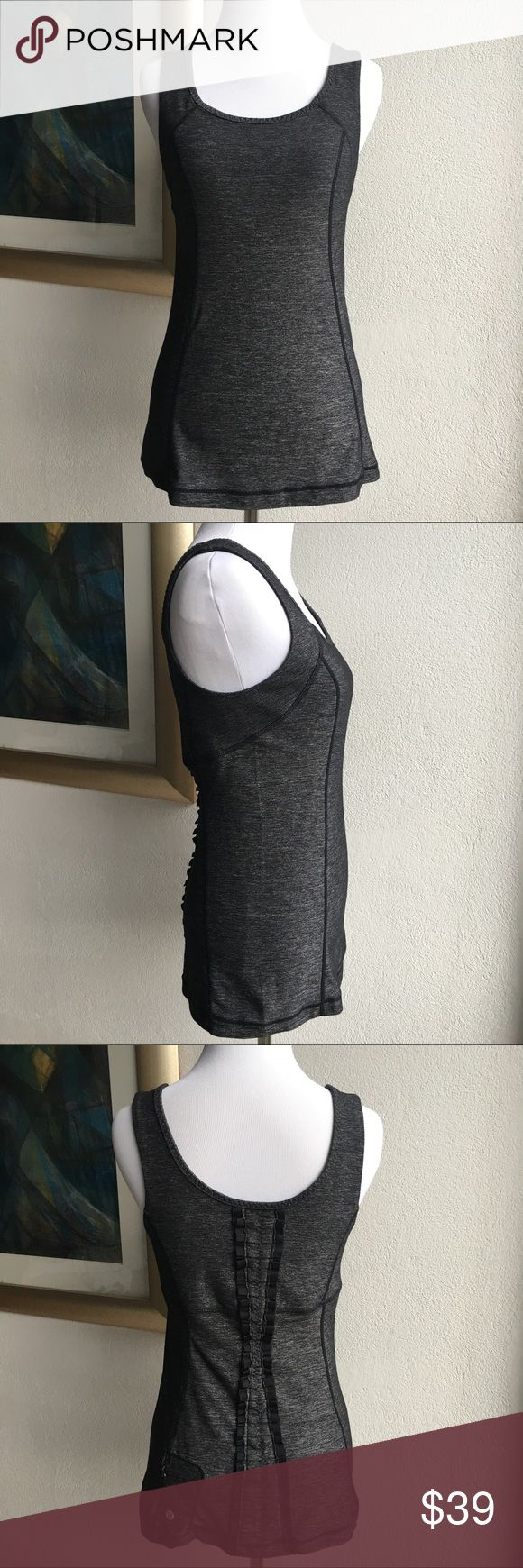Lululemon Charcoal Gray Tank Top size 6 Preowned authentic Lululemon Charcoal Gray Tank Top size 6. Lightly worn. Has zippered back pocket. Please look at pictures for better reference. Thank you for looking and happy shopping!!! lululemon athletica Tops Tank Tops