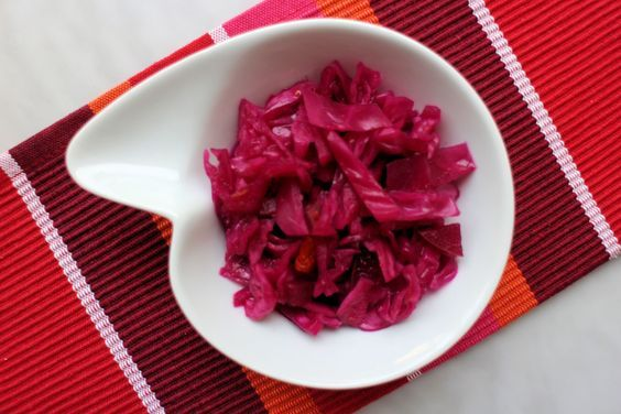 Fermented Purple Cabbage and Apple Sauerkraut is a delicious and easy way to eat your probiotics! This ferment will make you feel great! #fermentation #sauerkraut