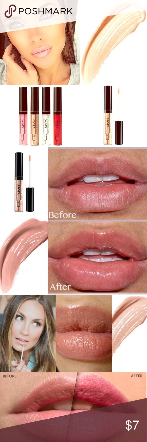 🔅NYX Lip Plumper in *Angela*🔅W/FREE GIFTS!🎁😍 🔅BRAND NEW & UNOPENED🔅NYX PUMP IT UP LIP PLUMPER🔅*Angela*🔅EXPEDITED SHIPPING🔅Plump ur pout to its FULLEST, flirtiest, most *FABULOUS* shape & size w/ this NEW shimmering Pump it up *LIP PLUMPER* formulated w/ maxi lip! Maxi lip is a special peptide that's infused in this new formula! Peptides are well known to improve collagen synthesis leading to firmer, *FULLER* looking lips! Go ahead- pout about it🔅INCLUDES SUPER CUTE FREE GIFTS🔅PICK…