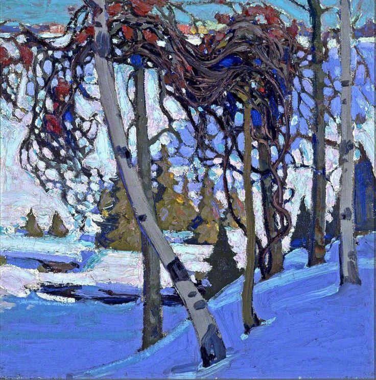 Tom Thomson Early Snow, 1916 Oil on Canvas 44.60 X 44.60 cm