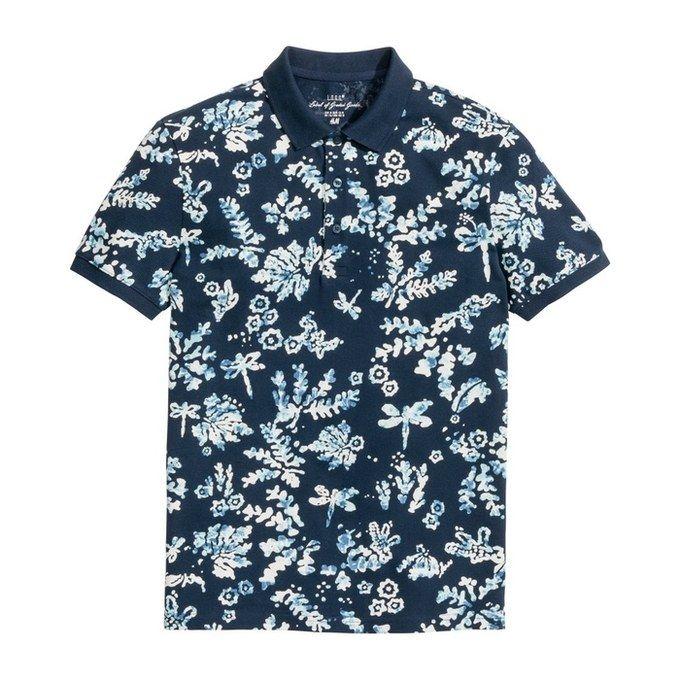 H&M Printed Polo Shirt, $18