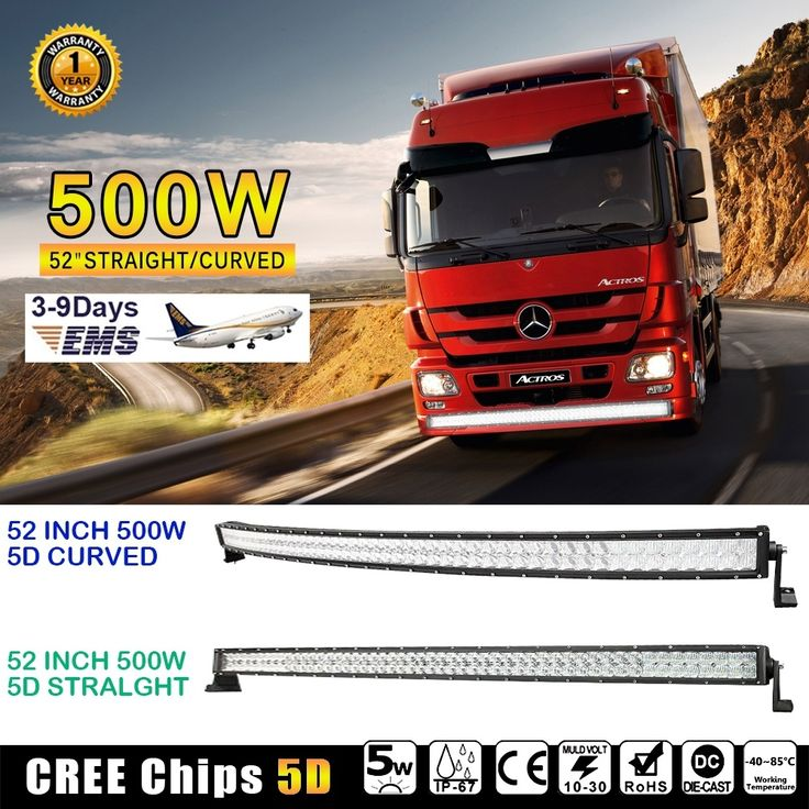 """165.00$  Buy here - http://ali3lz.worldwells.pw/go.php?t=32789336454 - """"52"""""""" 500W CREE Chips 5D LED Light Bar Offroad Led Work Driving Light Bar Combo for Truck ATV SUV 4WD 4x4 Pickup 12v 24v"""""""