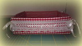 cestino di stoffa portapane dal sapore romantico con pizzo e nastrini questo cestino di stoffa si chiude ai 4 lati senza gli angoli piegati per il taglio di
