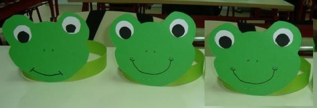 These frog headband craft idea projects are for preschool, kindergarten children. The crafts use materials found around the house, like egg cartons, cardboard, paper, boxes, string, crayons, paint, glue, etc.