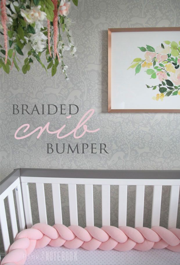 The Perfect Braided Crib Bumper from Juju & Jake via Pink Little Notebook