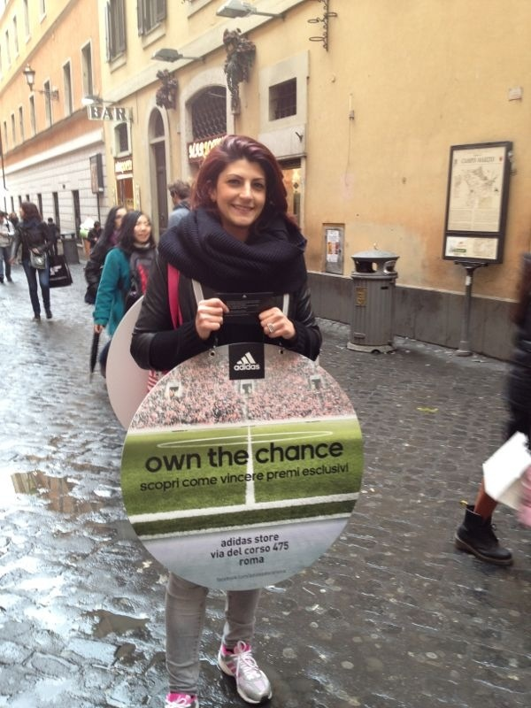 """adidas """"own the chance"""" promotion in Rome"""
