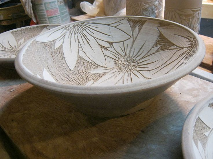 carving on pottery - Google Search
