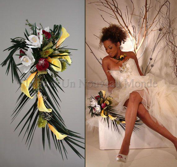 Bouquets de mari es bouquets cascade bouquet exotique for Bouquet exotique