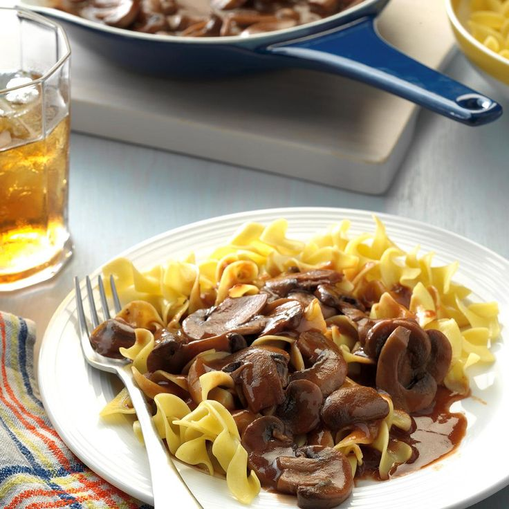 Mushroom Hunter's Sauce Recipe -Hunter sauce is a rich brown sauce with an accent of tomato. —Taste of Home Test Kitchen