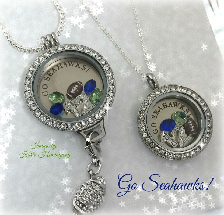 Origami Owl Twist Lockets. Seahawks themed! Let me build you one!!