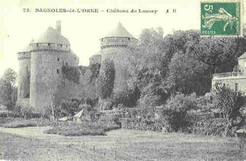 Lassay les Châteaux - le château 1911