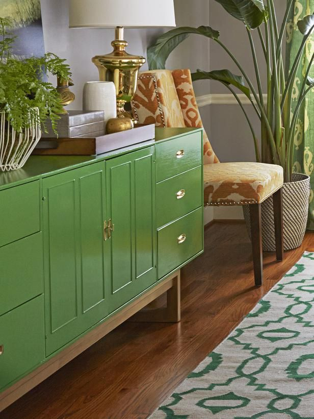 A sideboard is perfect for large family meals and serving buffet style. #hgtvmagazine http://www.hgtv.com/dining-rooms/a-thanksgiving-dining-room-makeover/pictures/page-4.html?soc=pinterest