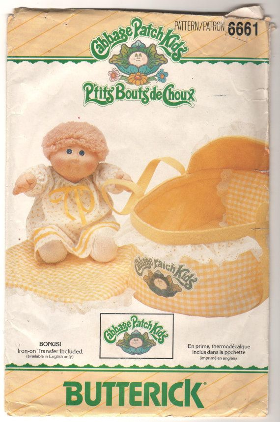 OOP Butterick 6661  Cabbage Patch Kids Bed by Fabpatterns1015, $8.00 mum had to make two of these :)