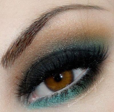 Dream Catcher: Pretty Eye, Green And Brown, Eye Shadows, Brown Eye, Blue Green, Dreams Catcher, Green Eye Makeup, Eyeshadows, Eyemakeup