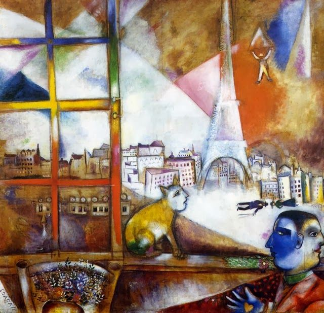 marc chagall paris travers ma fen tre 1913 new york