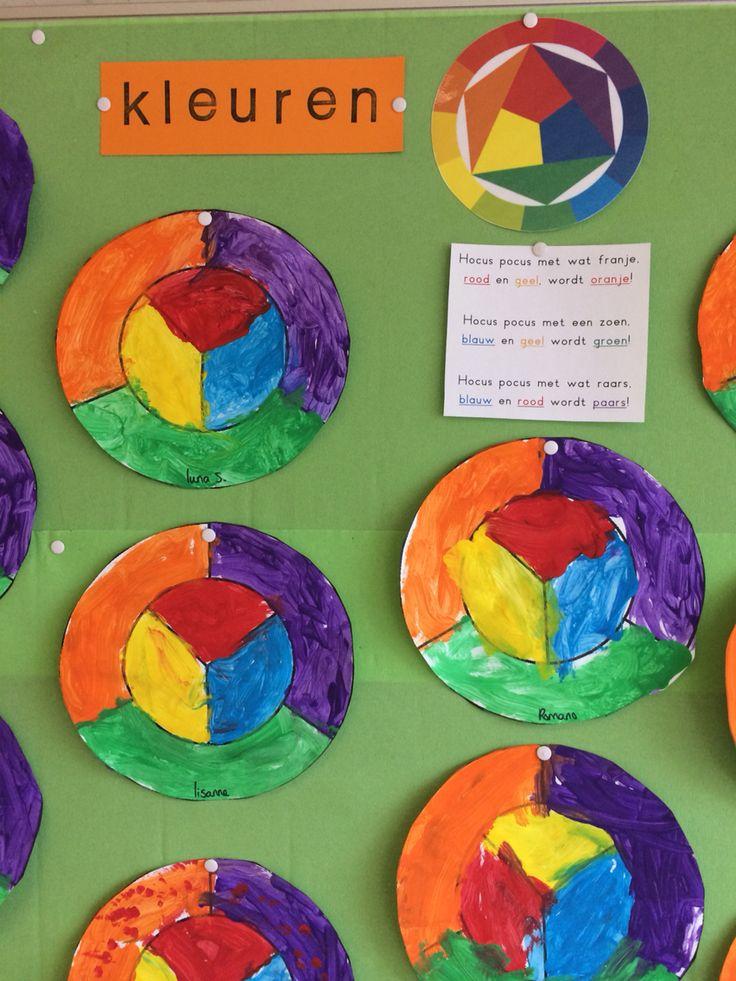 Thema kunst: kleuren mengen