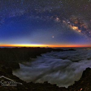 Caldera de Taburiente y Vía Láctea