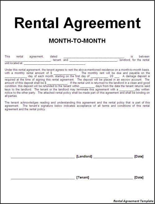 Related image Rental Agreement Rental agreement templates, Room