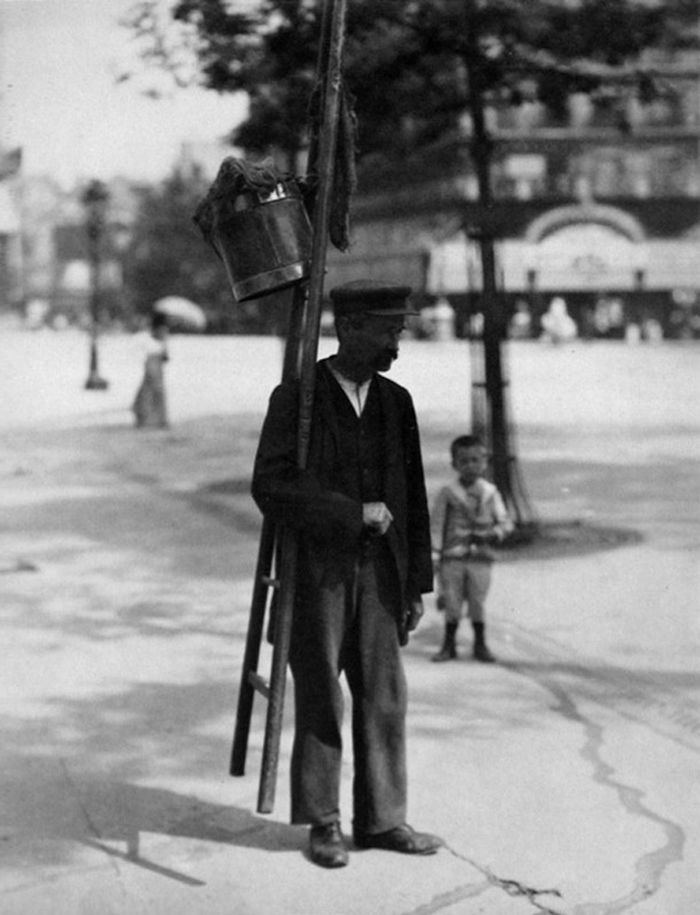 Eugene Atget | Window Washer
