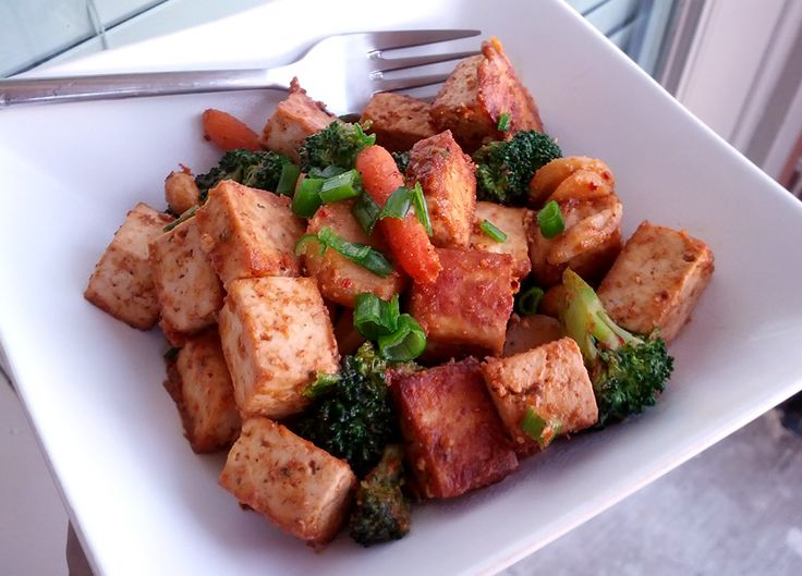 Vegetables And Tofu With Spicy Peanut Sauce Recipe — Dishmaps