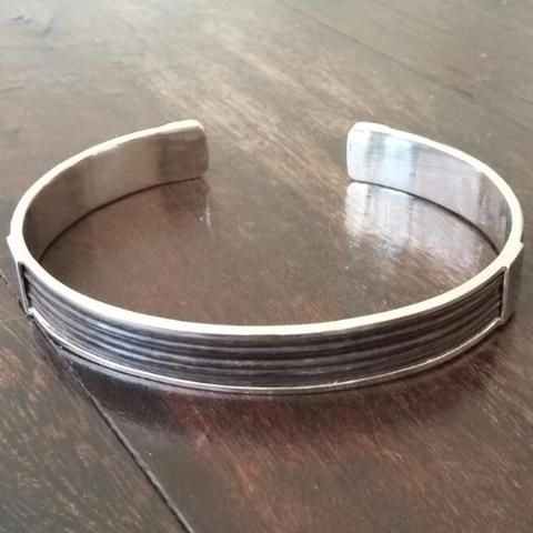 Elephant Hair Bangle 14ct White Gold - GoodiesHub.com
