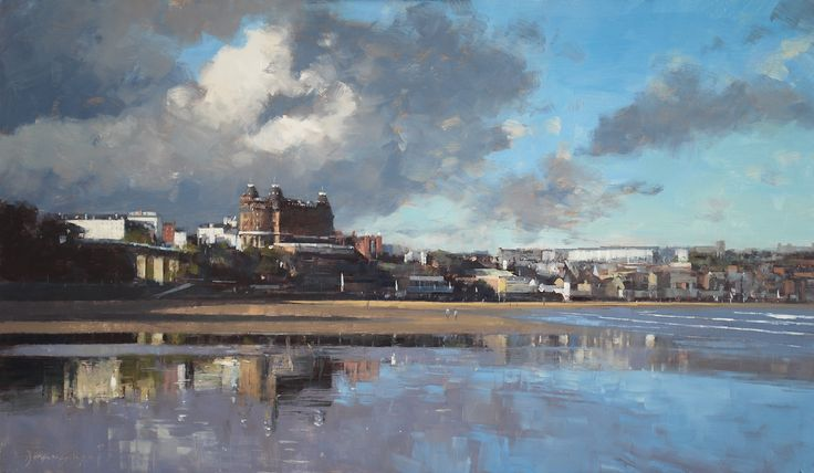 'Grand Hotel, Scarborough' by UK artist Douglas Gray g Scarborough' by UK artist Douglas Gray Limited edition print available to purchase directly from my art gallery in Scarborough or securely online. Free delivery within UK mainland. douglasgraygallery.com #scarborough #art #paintings