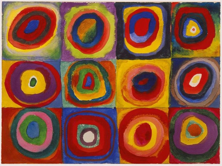 """Wassily Kandinsky - """"Color Study. Squares with Concentric Circles"""", 1913"""