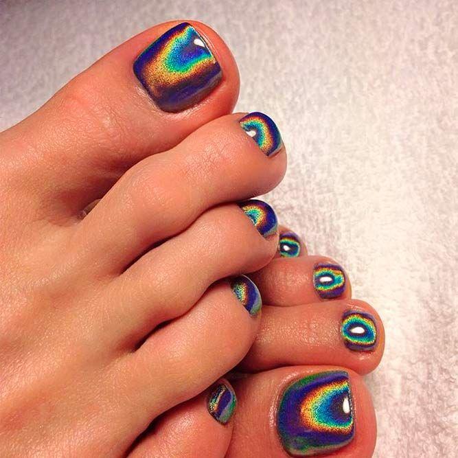 Cute Painted Toe Nails