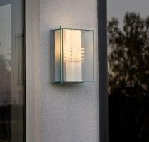 KONSTSMIDE Sol Energiespar Wandleuchte mit bruchsicherem Glas